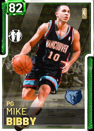 '02 Mike Bibby emerald card