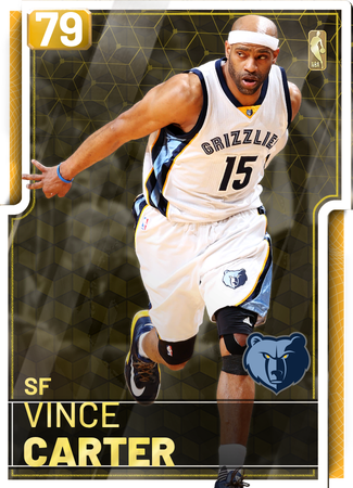 '18 Vince Carter gold card