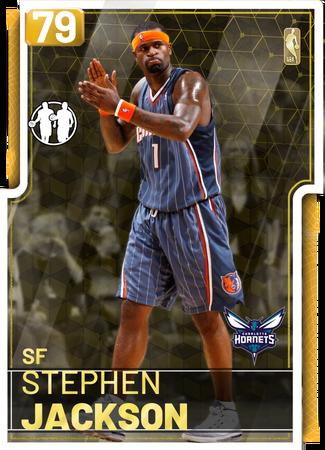 '07 Stephen Jackson gold card