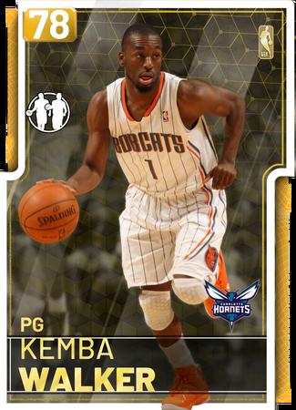 '16 Kemba Walker gold card