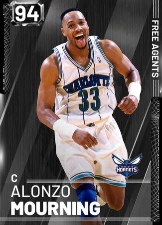 '95 Alonzo Mourning onyx card