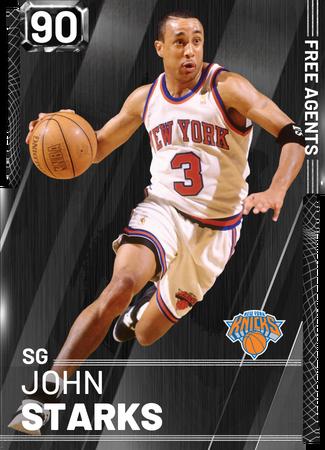 '90 John Starks onyx card