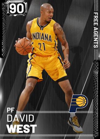'18 David West onyx card