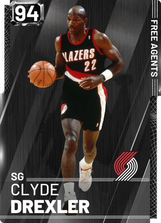 '98 Clyde Drexler onyx card