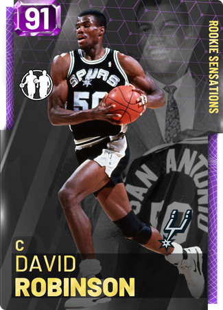 '98 David Robinson amethyst card