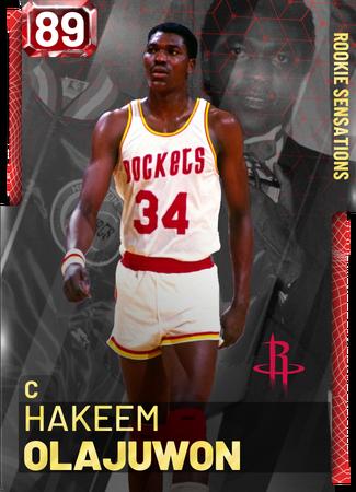 '94 Hakeem Olajuwon ruby card