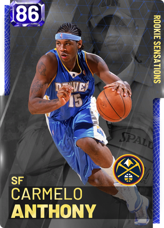 '03 Carmelo Anthony sapphire card