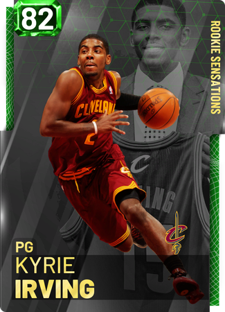 '12 Kyrie Irving emerald card
