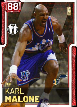 '98 Karl Malone ruby card