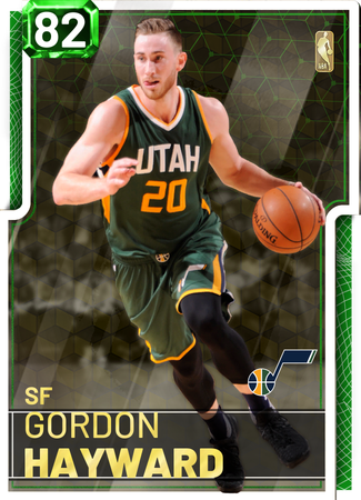 '18 Gordon Hayward emerald card