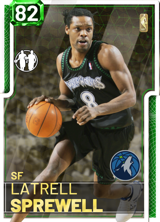 '04 Latrell Sprewell emerald card