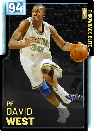 '18 David West diamond card