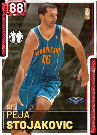 '11 Peja Stojakovic ruby card