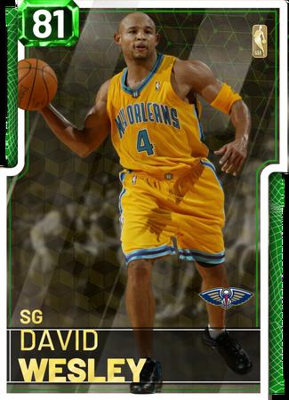 '07 David Wesley emerald card