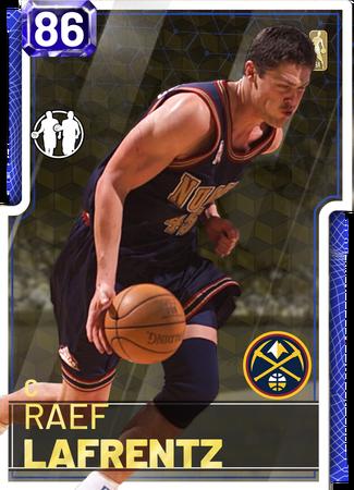 '03 Raef LaFrentz sapphire card