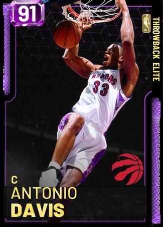 '06 Antonio Davis amethyst card