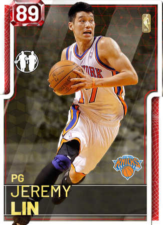 '12 Jeremy Lin ruby card