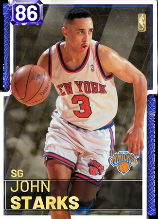 '02 John Starks sapphire card