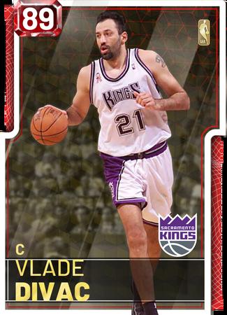 '02 Vlade Divac ruby card