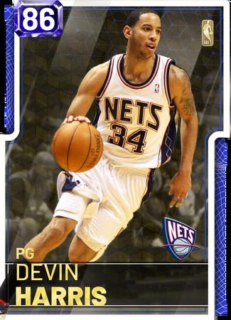 '18 Devin Harris sapphire card