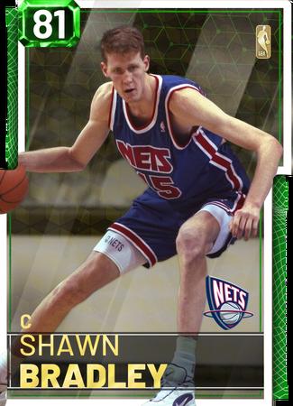 '05 Shawn Bradley emerald card