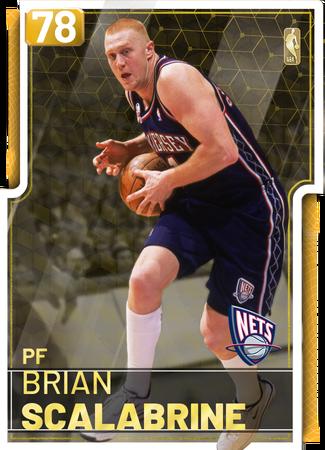 '08 Brian Scalabrine gold card