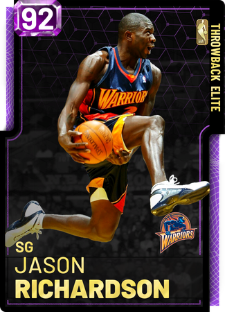'01 Jason Richardson amethyst card