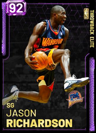 '01 Jason Richardson amethyst card