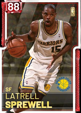 '99 Latrell Sprewell ruby card
