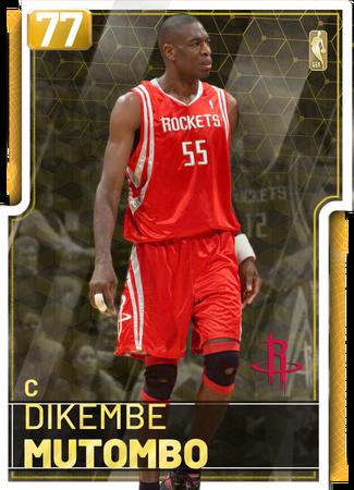 '01 Dikembe Mutombo gold card