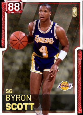 '87 Byron Scott ruby card