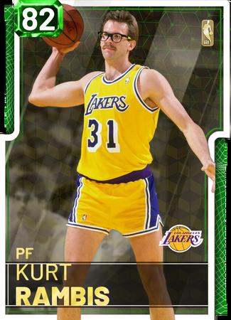 '87 Kurt Rambis emerald card