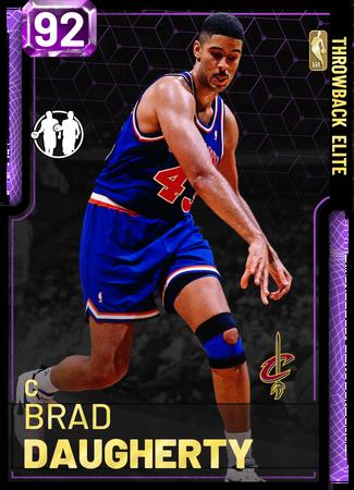 '94 Brad Daugherty amethyst card