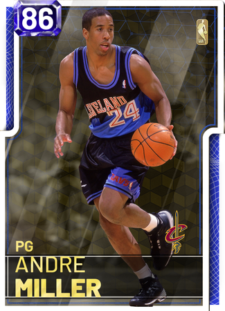 '09 Andre Miller sapphire card