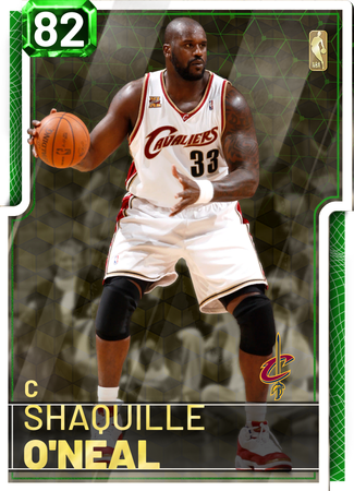 '06 Shaquille O'Neal emerald card