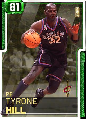 '91 Tyrone Hill emerald card
