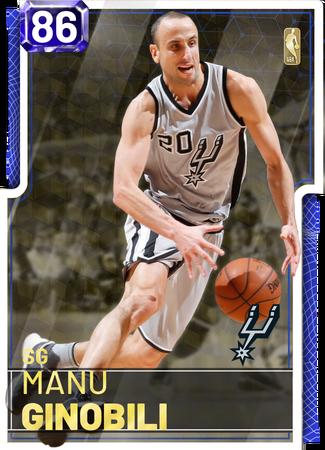'05 Manu Ginobili sapphire card