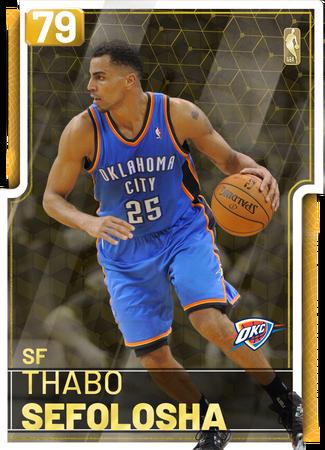 '12 Thabo Sefolosha gold card