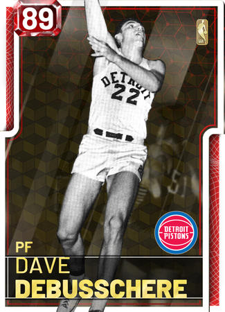 '72 Dave DeBusschere ruby card