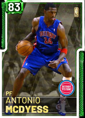 '11 Antonio McDyess emerald card