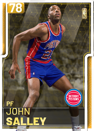 '89 John Salley gold card