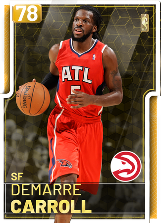 '18 DeMarre Carroll gold card