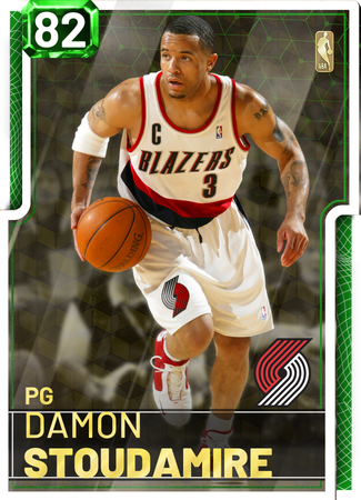 '06 Damon Stoudamire emerald card
