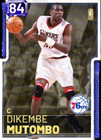 '01 Dikembe Mutombo sapphire card