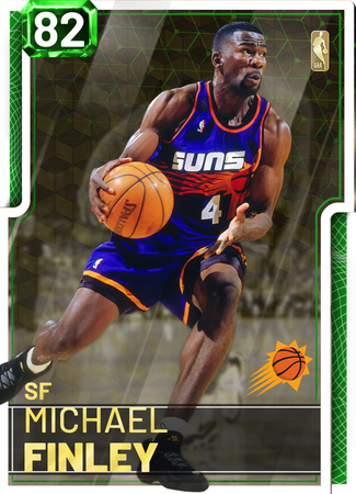 '97 Michael Finley emerald card