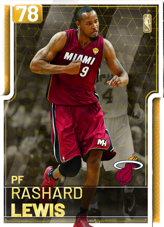 '13 Rashard Lewis gold card