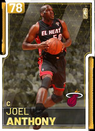 '13 Joel Anthony gold card