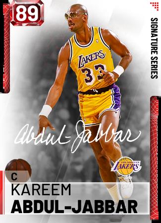 '87 Kareem Abdul-Jabbar ruby card