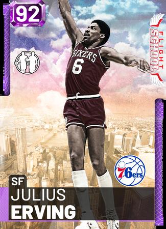 '85 Julius Erving amethyst card