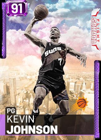 '00 Kevin Johnson amethyst card